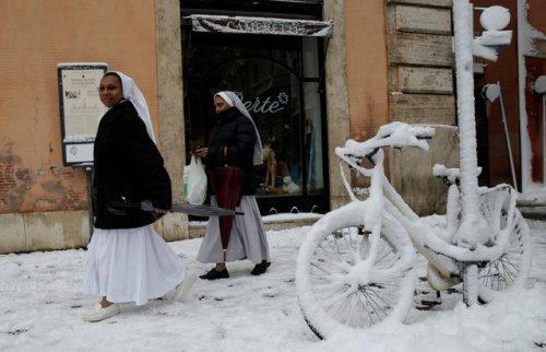 Европа в снегу